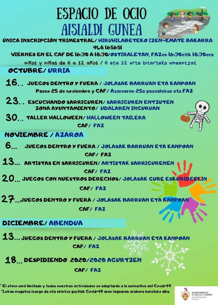 Actividades Por Halloween En El Valle Para NiñOs 2020 ESPACIO DE OCIO INFANTIL 2020   Ayuntamiento Valle de Egüés