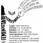 Taller de autodefensa feminista los días 5 y 12 de marzo