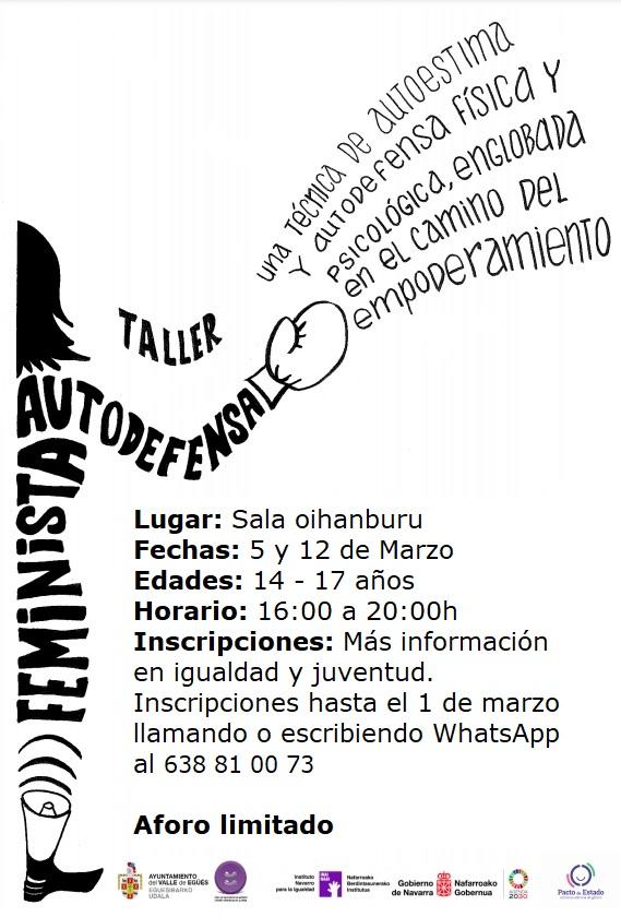 Autodefensa Feminista cartel Castellano
