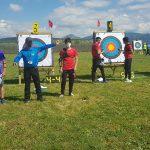 Ultima jornada de Juegos Deportivos de Navarra tiro con arco al aire libre